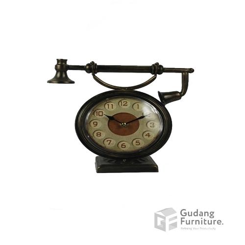 Jam Meja / Metal Table Clock Ardente 12ATC563