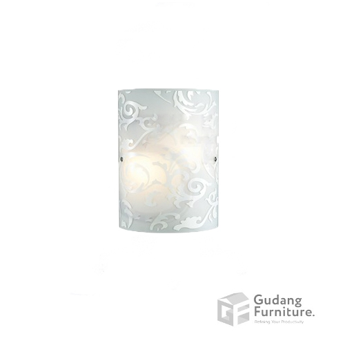 Lampu Dinding/Wall Lamp 3+ Projects Metal Base in White Rococo 3+DLWL1206RCAH