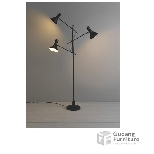 Lampu Lantai / Standing Lamp Ardente 3 HEAD NYX BLACK