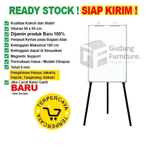 Papan Tulis Flip Chart SAKANA 60x90cm (Kaki)