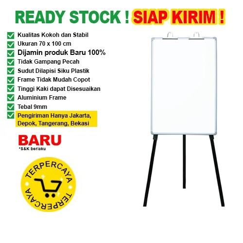 Papan Tulis Flip Chart SAKANA 70x100cm (Kaki)