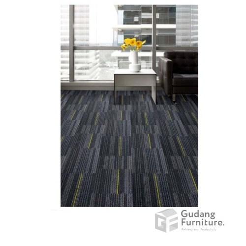 Karpet Kantor Cool Planks - Cappucino Yellow Line