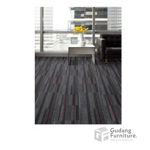 Karpet Kantor Cool Planks -  Espresso Red Line