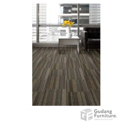 Karpet Kantor Cool Planks - Hazelnut Orange Line