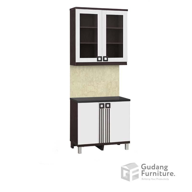 Kitchen Set Atas 2 Pintu Kaca Infinity Series KSA 2562