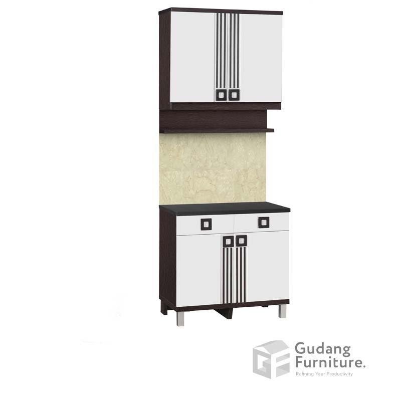 Kitchen Set Atas 2 Pintu Rak Bumbu Infinity Series KSA 2552