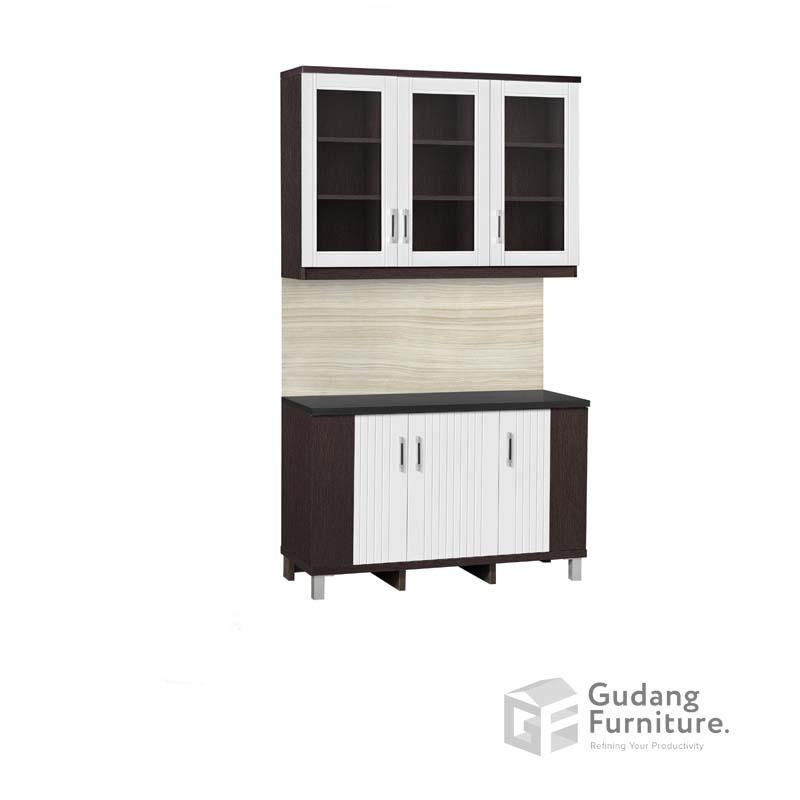 Kitchen Set Atas 3 Pintu Kaca Anata Series KSA 2663