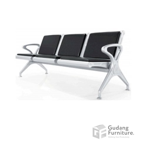 Kursi Tunggu / Public Chair / Kursi Deret / Kursi Tunggu Bandara Fantoni PC 001 3 Seater (Dengan Jok)