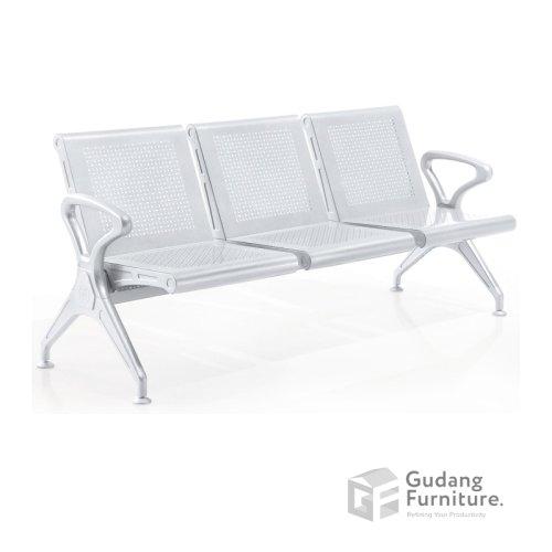 Kursi Tunggu / Public Chair / Kursi Deret / Kursi Tunggu Bandara Fantoni PC 001 3 Seater (Tanpa Jok)