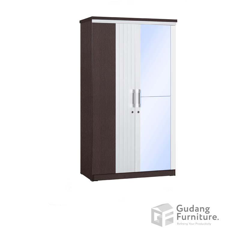 Lemari Pakaian 2 Pintu Cermin Full Anata Series LP 2692