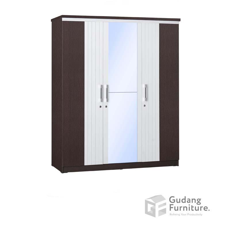 Lemari Pakaian 3 Pintu Cermin Full Anata Series LP 2693