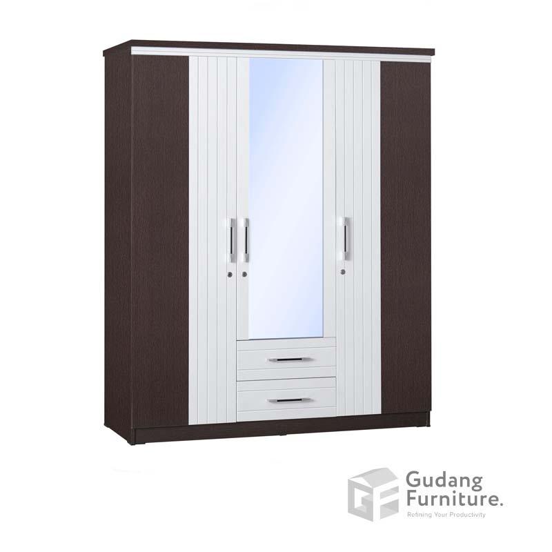 Lemari Pakaian 3 Pintu Cermin Laci Anata Series LP 2698