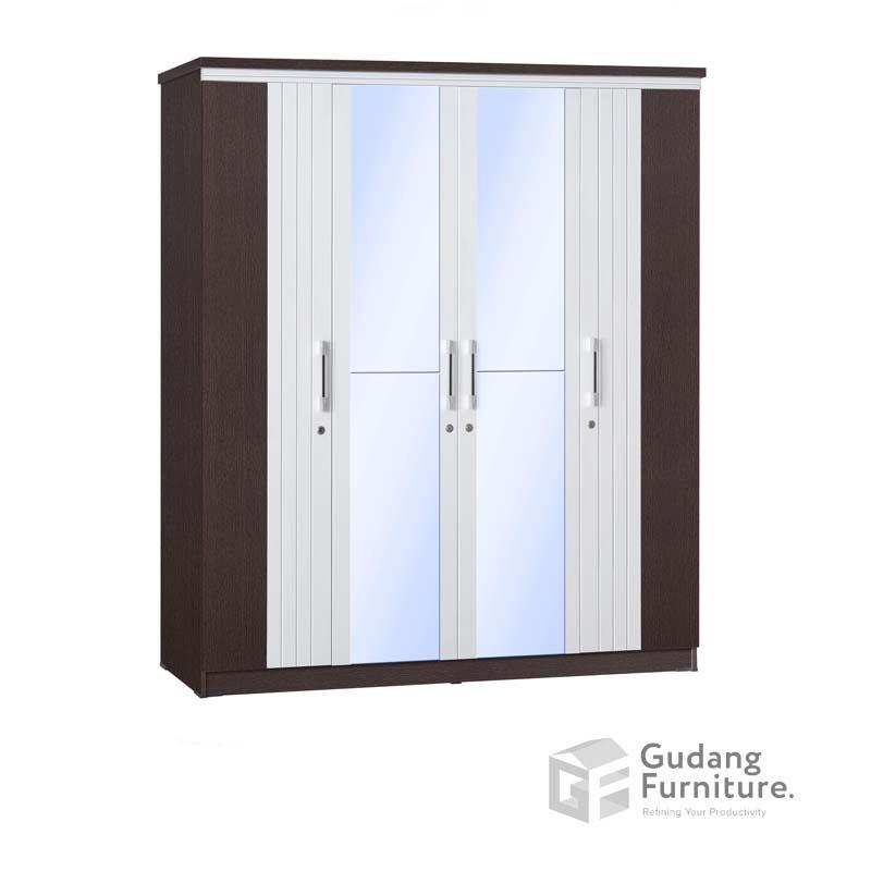 Lemari Pakaian 4 Pintu Cermin Anata Series LP 2690