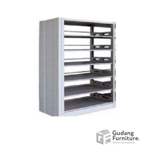 Lemari Perpustakaan Metal / Filling Cabinet Metal / Rak Metal Kantor Safeguard SBSW2P-P1