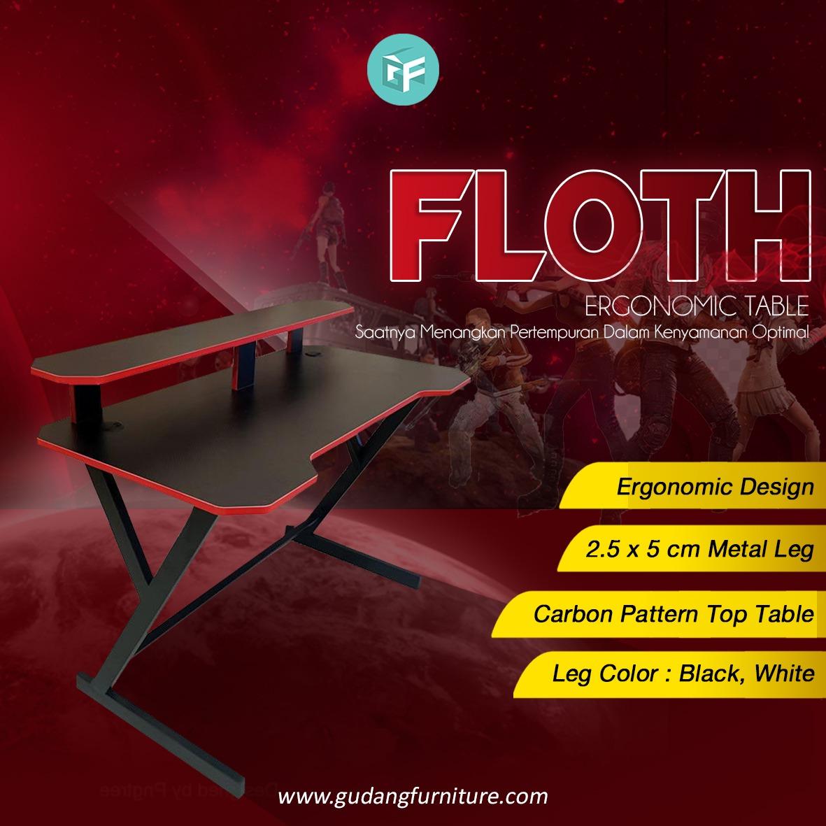 Meja Gaming Meja Komputer Murah FLOTH FL120