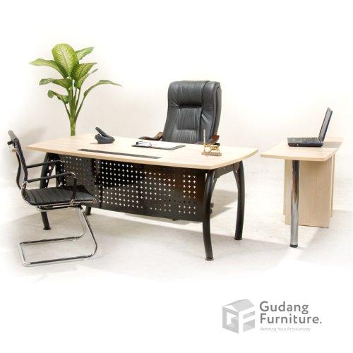 Meja Kerja Kantor Direktur Modern Minimalis Aditech FD 08