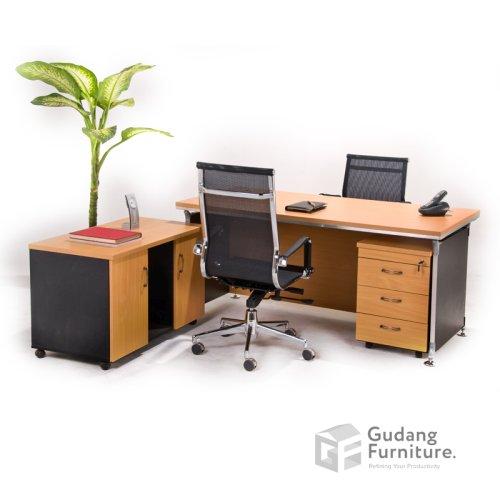 Meja Kerja Kantor Direktur Modern Minimalis Aditech FD 09
