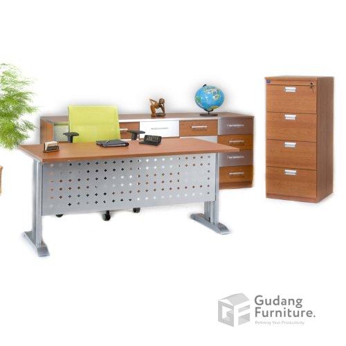 Meja Kerja Kantor Manager Modern Minimalis Aditech S 575 M