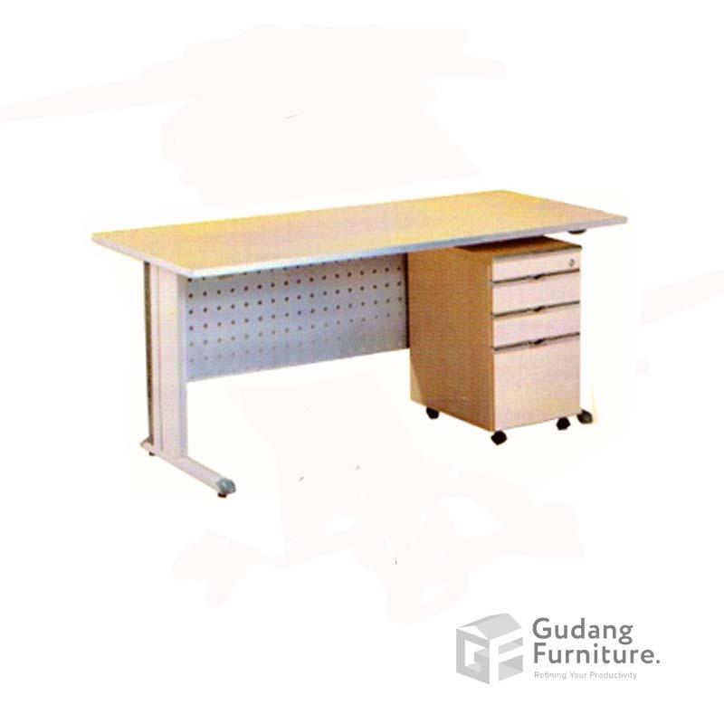 Meja Kerja Kantor Staff Modern Minimalis Aditech EGD 400