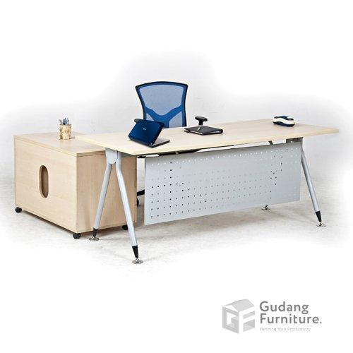 Meja Kerja Kantor Direktur Modern Minimalis Aditech FR 06