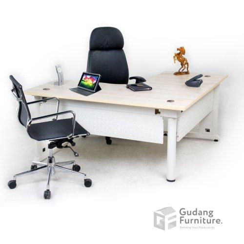 Meja Kerja Kantor Direktur Modern Minimalis Aditech FR 11