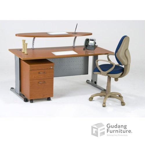 Meja Kerja Kantor Manager / Resepsionis Aditech SS 7516 R