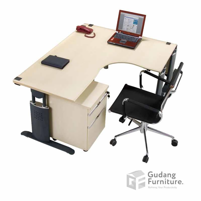 Meja Kerja Kantor Manager Modern Minimalis Aditech SM 1212 M