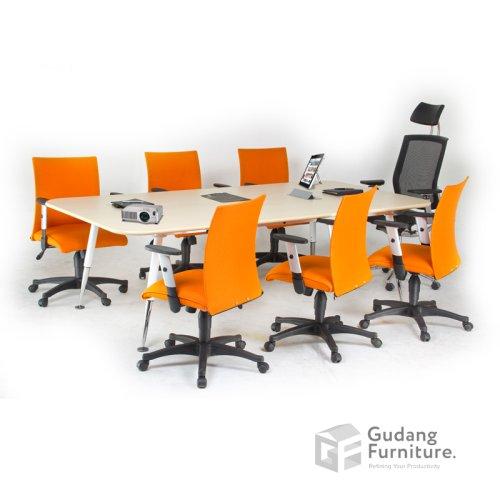 Meja Meeting Kantor / Meja Rapat Kantor Modern Minimalis Aditech ERM 240