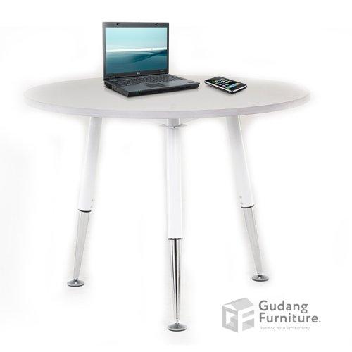 Meja Meeting Kantor / Meja Rapat Kantor Bundar / Dealing Table Modern Minimalis Aditech FRM 12