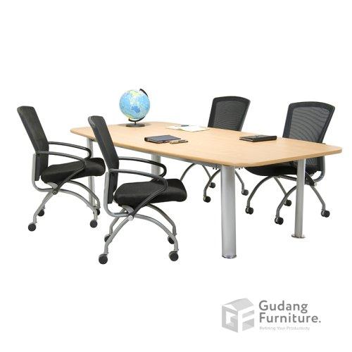 Meja Meeting Kantor / Meja Rapat Kantor Modern Minimalis Aditech SR 2402