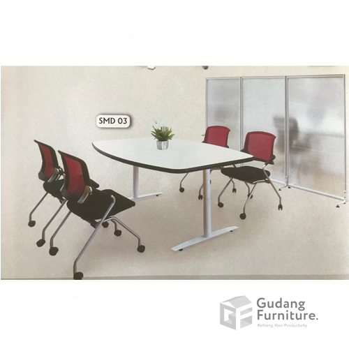 Meja Meeting Kantor Modern Minimalis Aditech SMD 03