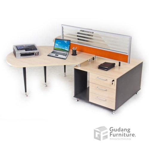 Meja Partisi / Workstation Kantor / Meja Kerja Kantor Aditech FRW 02