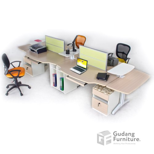 Meja Partisi / Workstation Kantor / Meja Kerja Kantor Aditech FRW 05