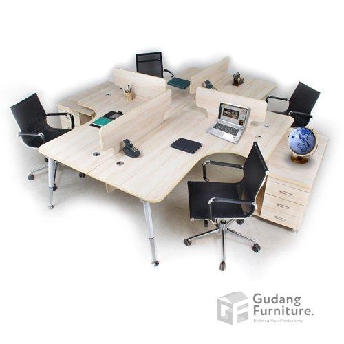 Meja Partisi / Workstation Kantor / Meja Kerja Kantor Aditech FRW 05 A