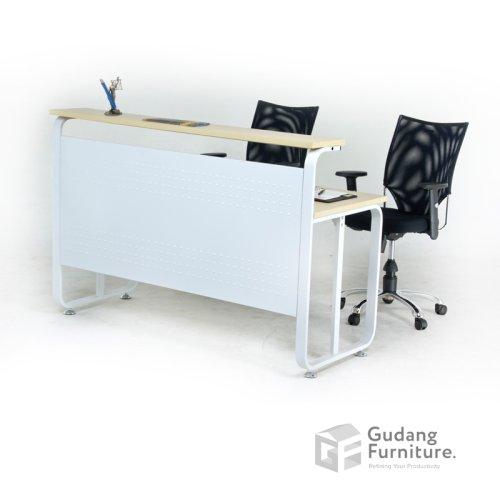Meja Resepsionis Kantor / Meja Penerima Tamu Kantor Aditech CN 03 - 140 cm