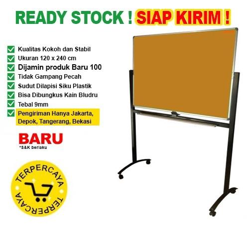 Papan Pin Board / Soft Board SAKANA Polos 120x240 ( Kaki )
