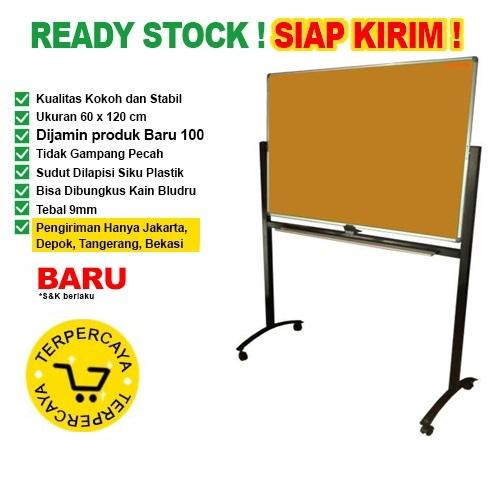 Papan Pin Board / Soft Board SAKANA Polos 60x120 ( Kaki )