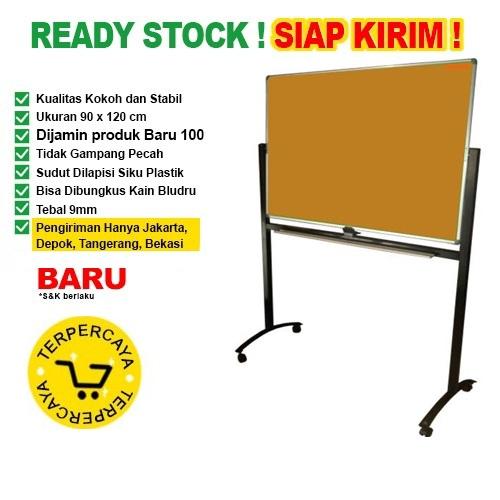 Papan Pin Board / Soft Board SAKANA Polos 90x120 cm ( Kaki )