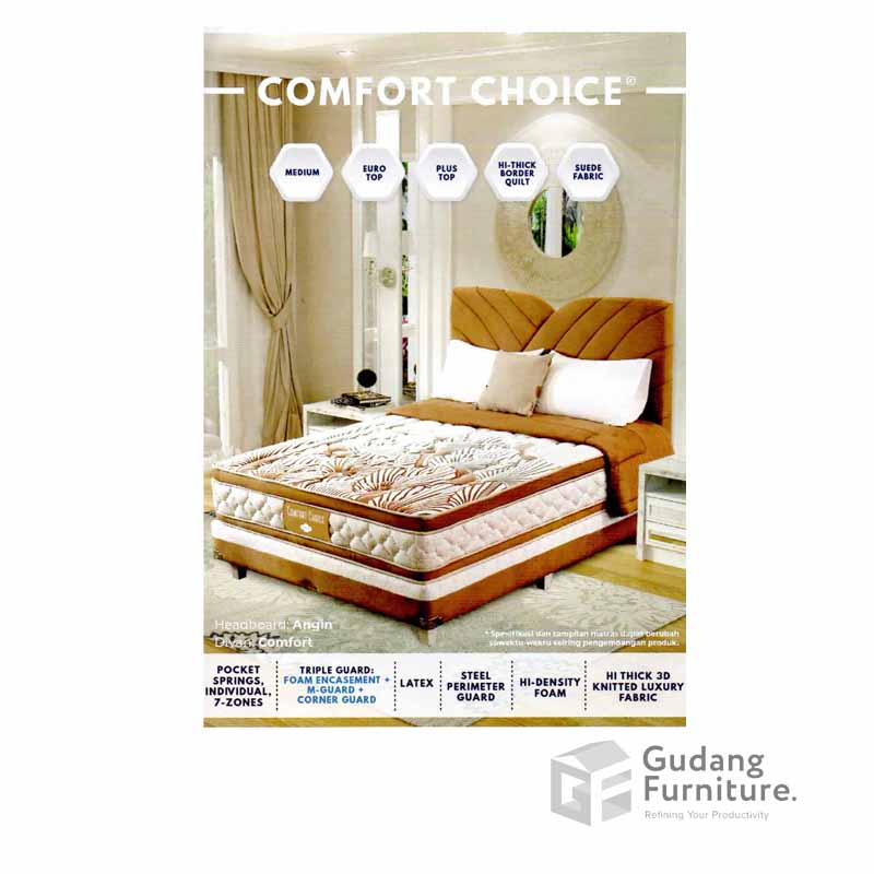 Spring Bed Comforta Comfort Choice Mattress Only (180 x 200 cm)